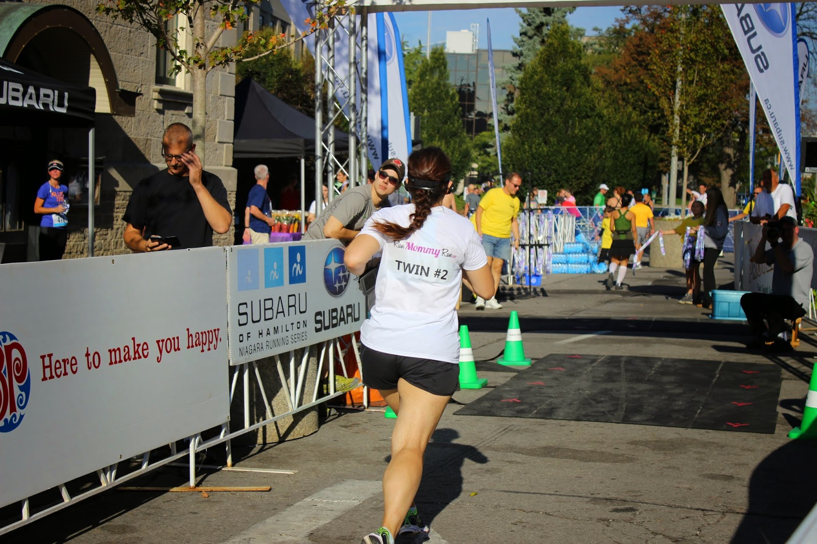 Image of Julie finishing a 5 Km race