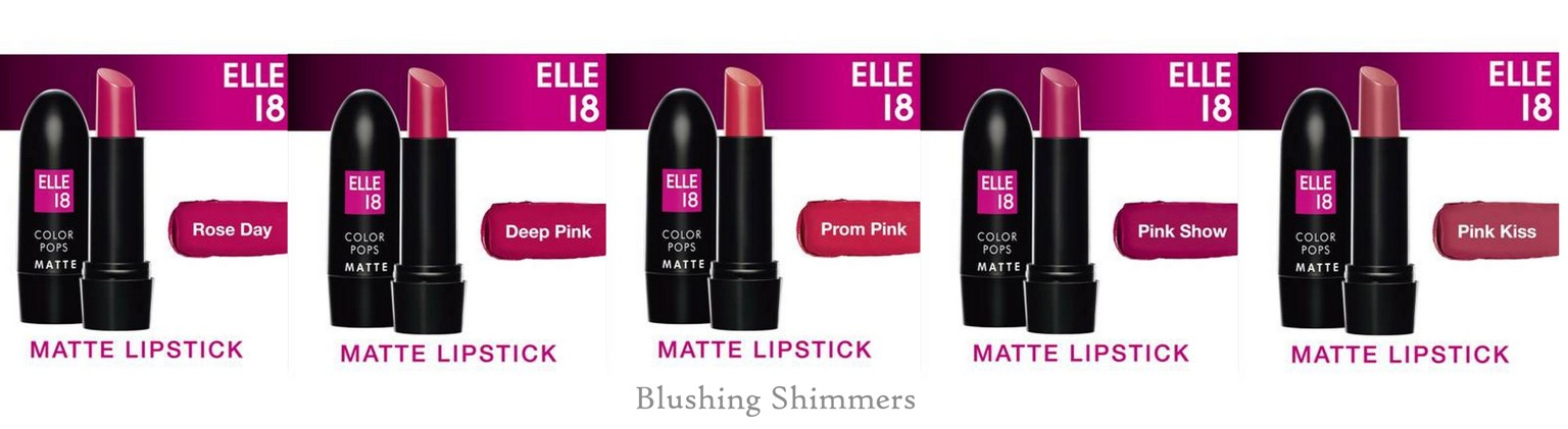 Elle 18 Color Pop Matte Lip Color pink