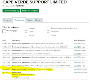 Cape Verde Support Ltd - London Capital Finance charge LCF