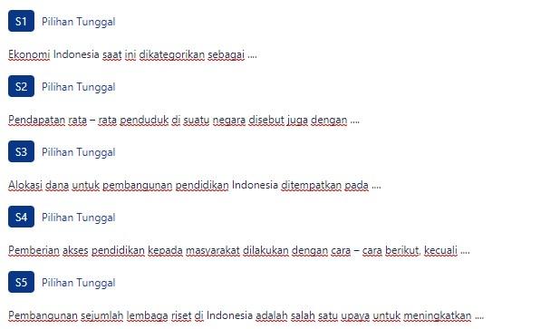 Contoh Soal Upaya Indonesia menjadi Negara Maju | ezy blog