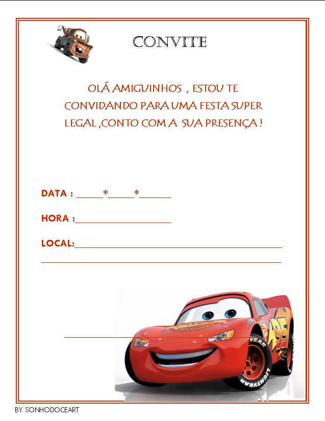 Pin By Suelia Gomes Gomes On Convite Do Cars Pinterest