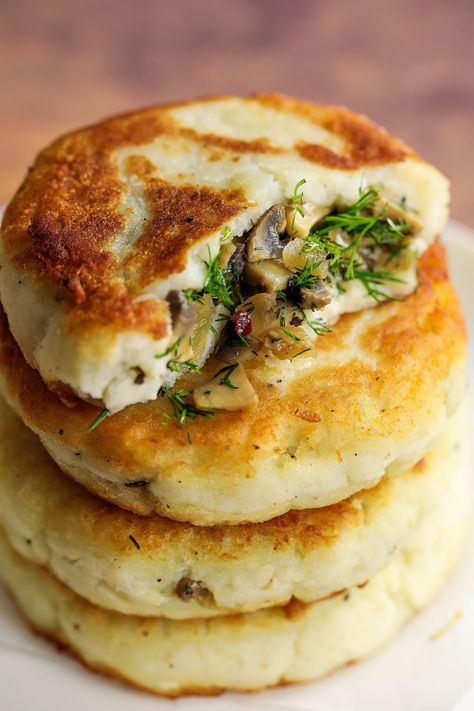 Mushroom Stuffed Potato Cakes Fluffy potato cakes stuffed with a fragrant lemony herby mushroom mixture. These mushroom stuffed potato cakes would make an amazing addition to meals. I made these potato filled cakes around this time last year and they went down a treat with the family. I had it in mind to make this recipe again to share on the blog, ... Read More
