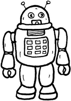 Desenhos Robo Com Antenas Colorir E Pintar Qdb