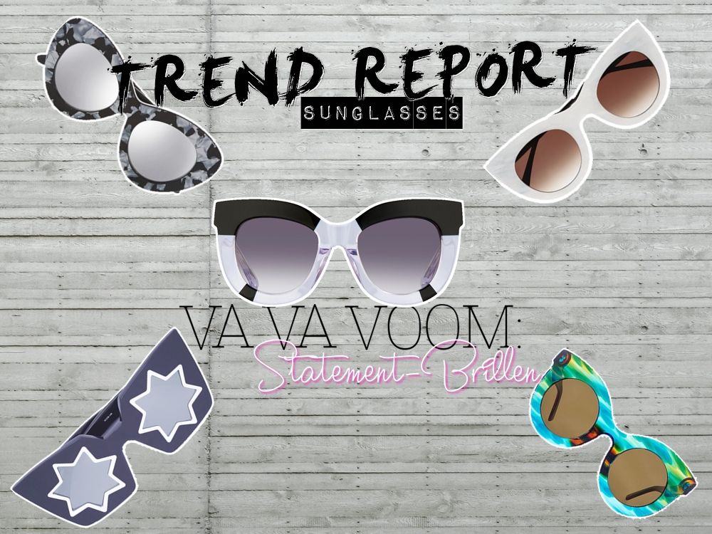 TREND REPORT: Power Glasses - Sunglasses SS16 by fashion blogger  Annie K. - Annies Beauty House
