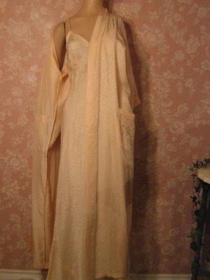 Elegant Silk Nightgown Peignoir Set with Openwork Detail 1779b45ff