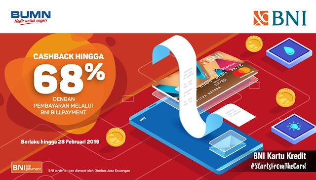 #BankBNI - #Promo Cachback 68% Bill Payment Lucky ANGPAO Imlek 2568