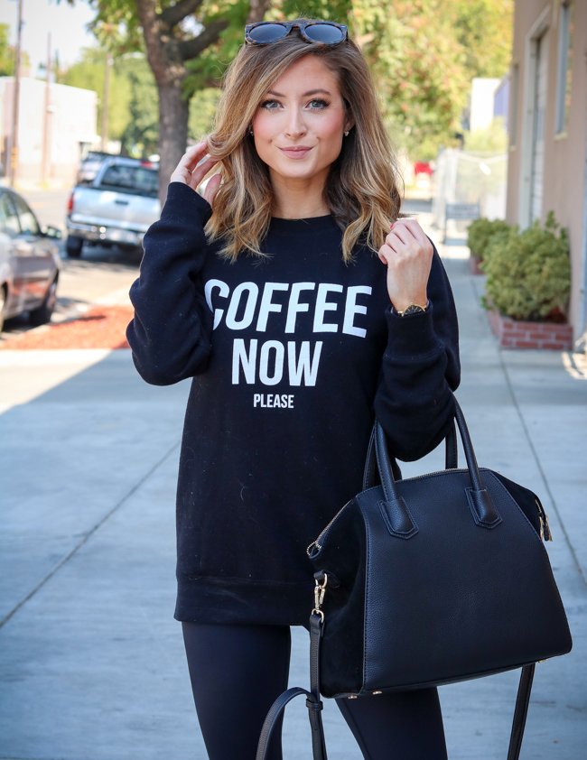 brunette the label coffee now please sweatshirt