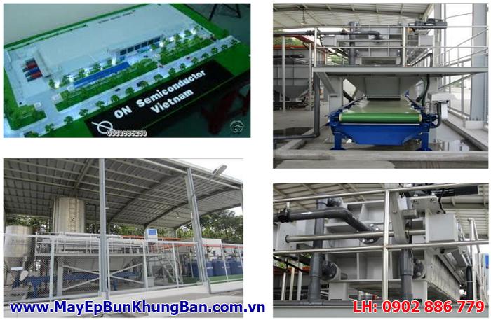 Cung cấp máy ép bùn khung bản cho Nhà máy On Semiconductor Việt Nam