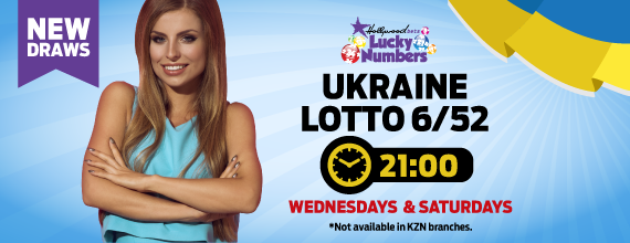 Ukraine Sloto 6/52 - Hollywoodbets - Lotto - Lucky Numbers