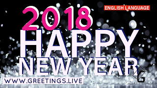 Happy New Year 2018 wishes Sparkling Background