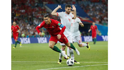 SPAIN kicked off tonight its WORLD CUP 2018 participation against PORTUGAL in Group B. The final result a 3 - 3 draw that could have gone either way.