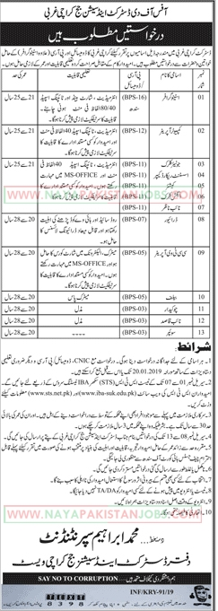 Office Of The District And Session Judge Karachi Jobs Jan 2019, Session Judge karachi jobs 2019