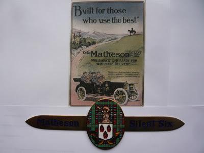 MATHESON radiator emblem badge