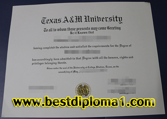 Texas A&M University degree