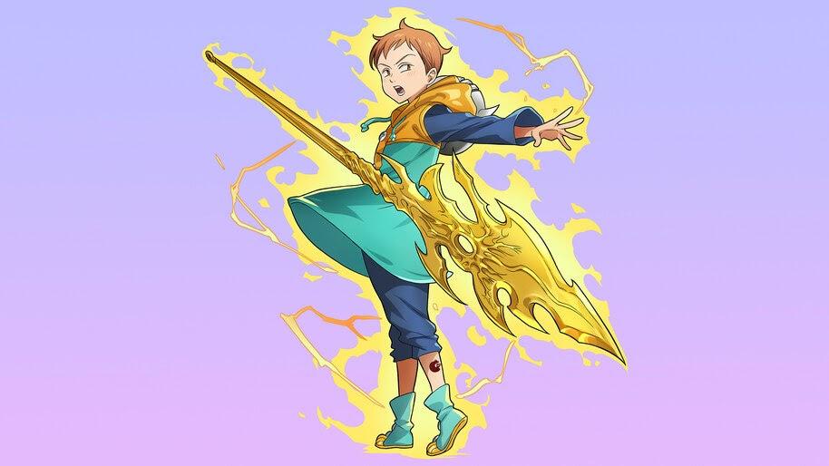 King, Sacred Treasure, Spirit Spear Chastiefol, Nanatsu no ... Sacred Spear