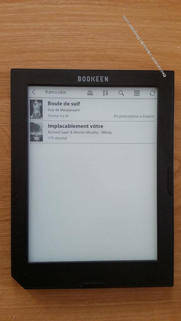 Widok kolekcji w Cybook Muse Light złożonej z dwóch e-booków
