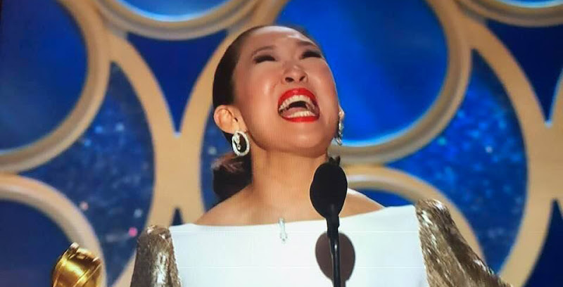 YES! Sandra Oh WINS Best Performance By An Actress In A Television Series Drama (AKA KILLING IT)