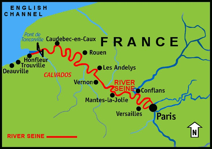 Pictures Of Seine River Map Rock Cafe