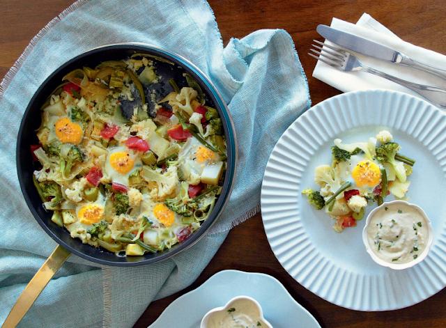 Frigideira de Vegetais e Ovos