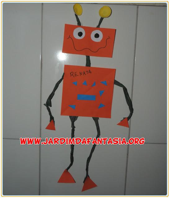 Robô de Formas Geométricas Atividade para Educação Infantil