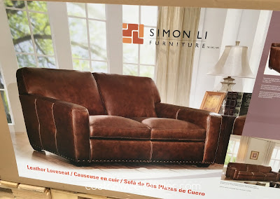 Costco 734926 - Simon Li Leather Loveseat: great for any home