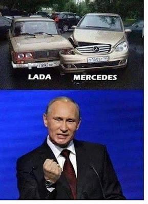 Lada , Mercedes Benz, Putin