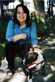 Author with service dog