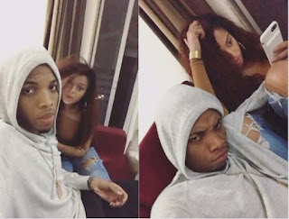 Tekno and Lola rae chilling together