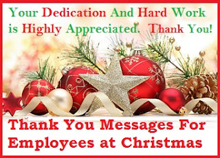 Christmas Thank You Messages: Thank You Messages For Employees at Christmas