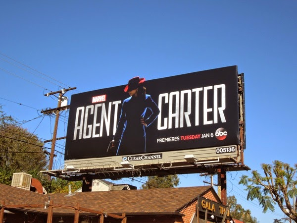 Marvel Agent Carter series premiere billboard