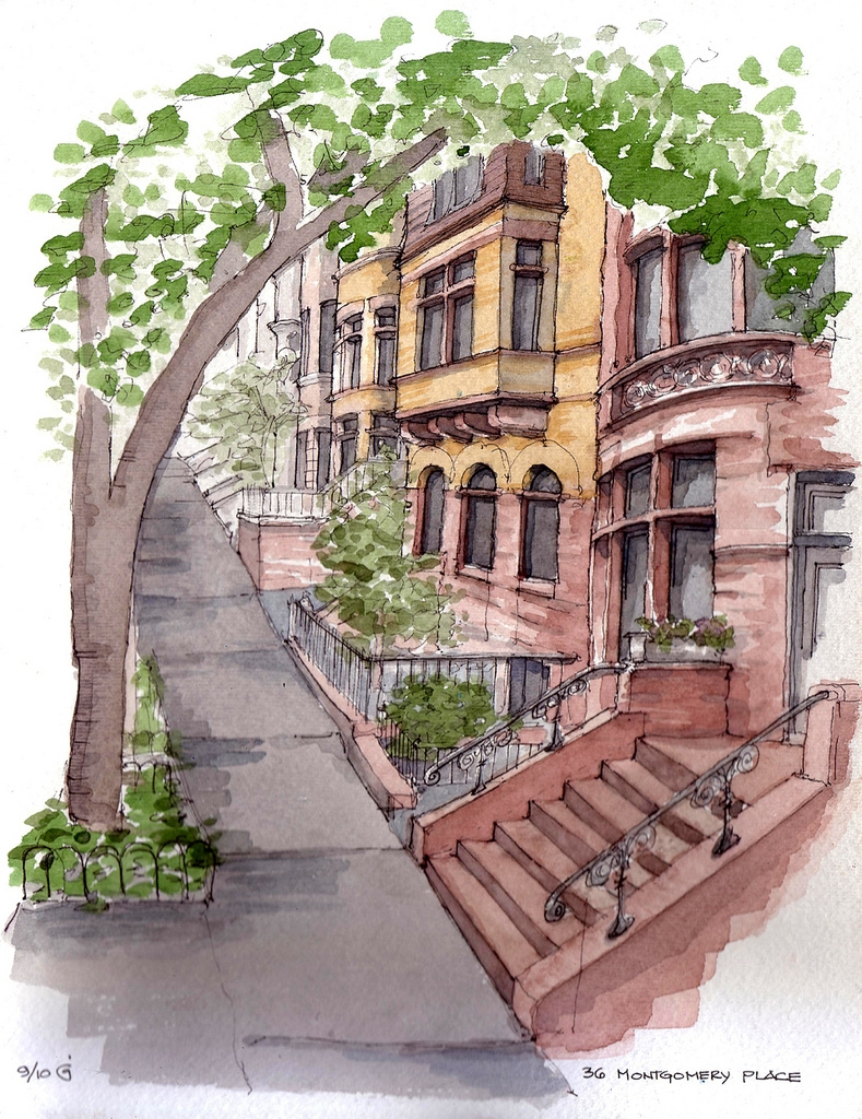 07-36-Montgomery-Place-James-Anzalone-Freehand-Sketches-of-Park-Slope-Brooklyn-USA-www-designstack-co