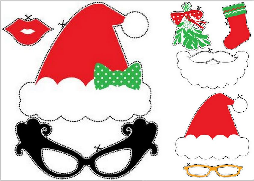 photograph regarding Christmas Photo Props Printable titled Xmas Image Booth: Cost-free Printable Humorous Props. - Oh My
