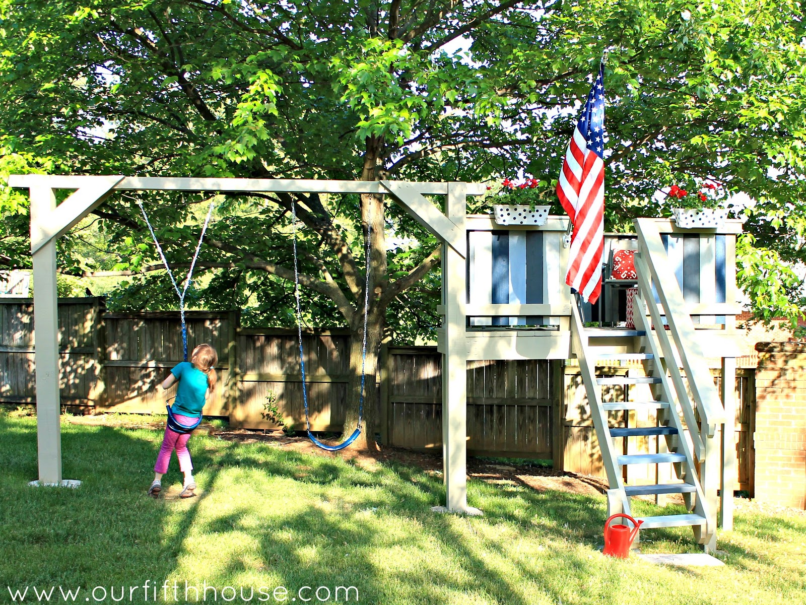 DIY Swing Set & Playhouse Our Fifth House