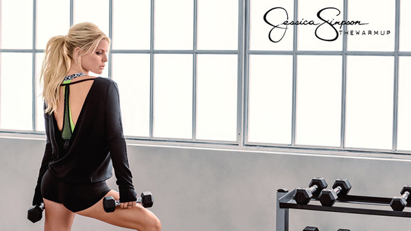 Jessica Simpson, Jessics Simpson's activewear line, The Warmup, active wear, gym wear, yoga clothes, yoga wear