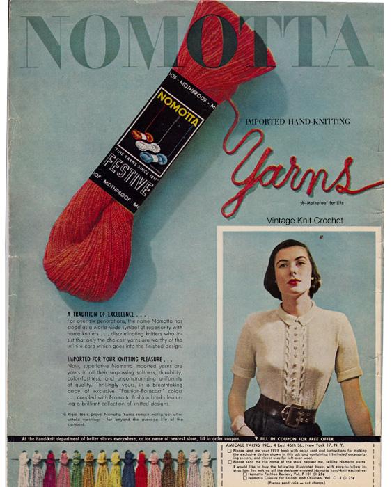 Vintage Knit Crochet Bits Of History Nomotta Festive Yarn