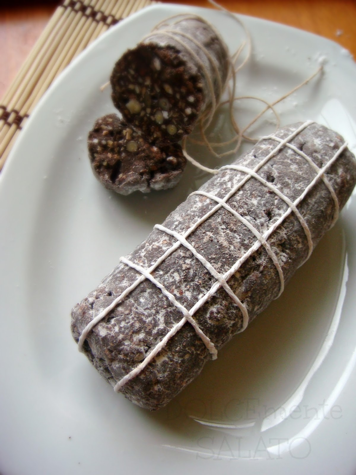 Ricetta Salame Al Cioccolato Montersino.Dolcemente Salato Salame Di Cioccolato Di Montersino