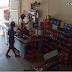 Câmeras de segunça mostram assalto a Mercadinho em Marizópolis
