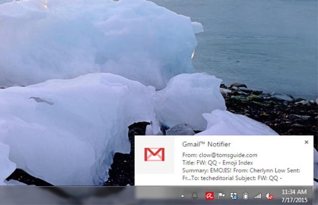 pemberiantahuan lengkap dari Gmail dekstop