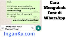 Cara Mengubah Bentuk Teks (Font) di WhatsApp