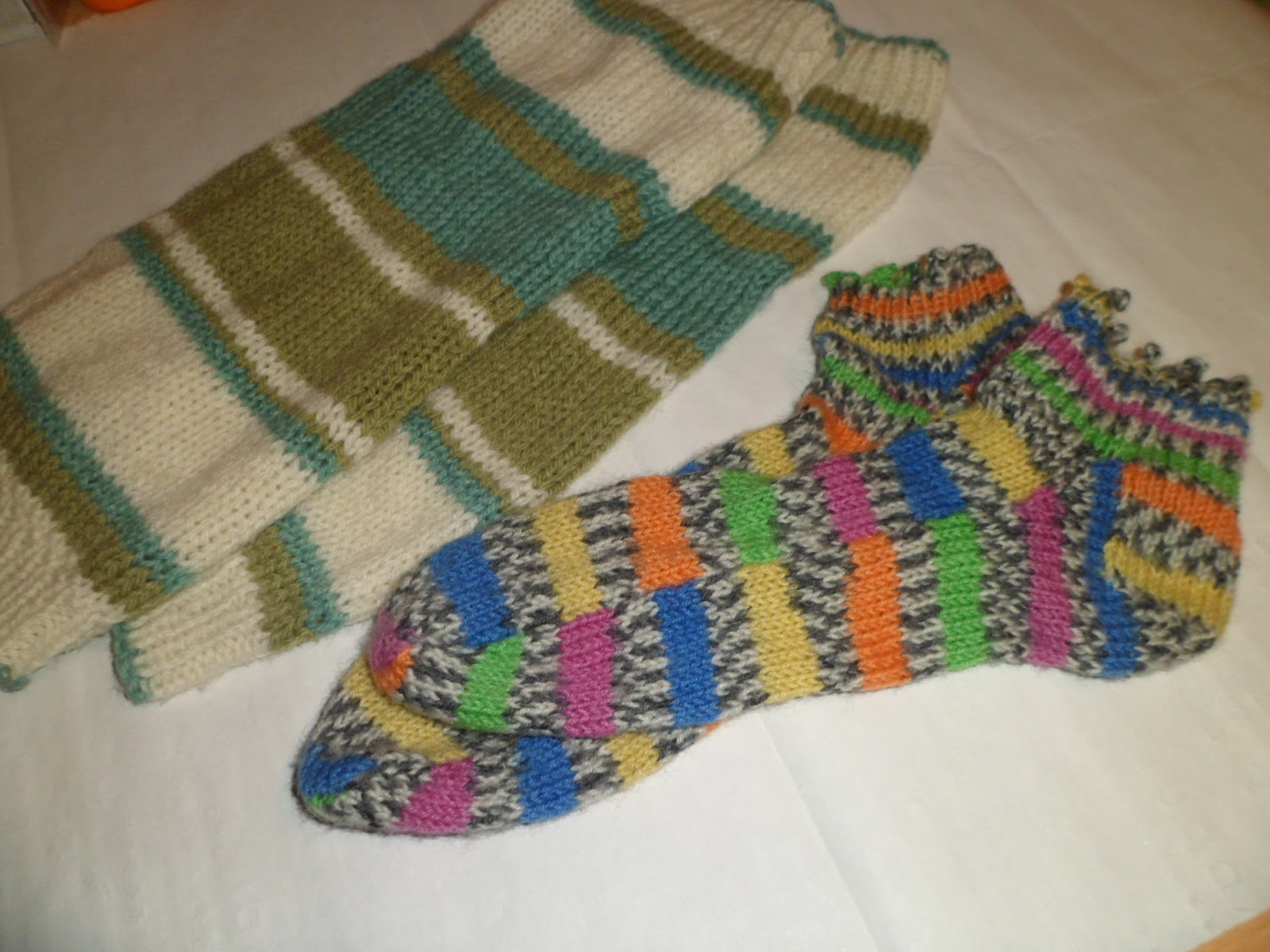 Knitted Leg Warmers Using Caron Cakes Yarn
