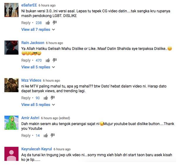 Baru semalam upload, MV Abang Nak Tegur 3.0 dah terima 33k dislike, netizen dedah punca sebenar mereka dislike