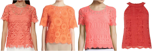 One of these lace tops is from Trina Turk for $248 and the other three are under under $40. Can you guess which is the more expensive top? Click the links below to see if you are correct!