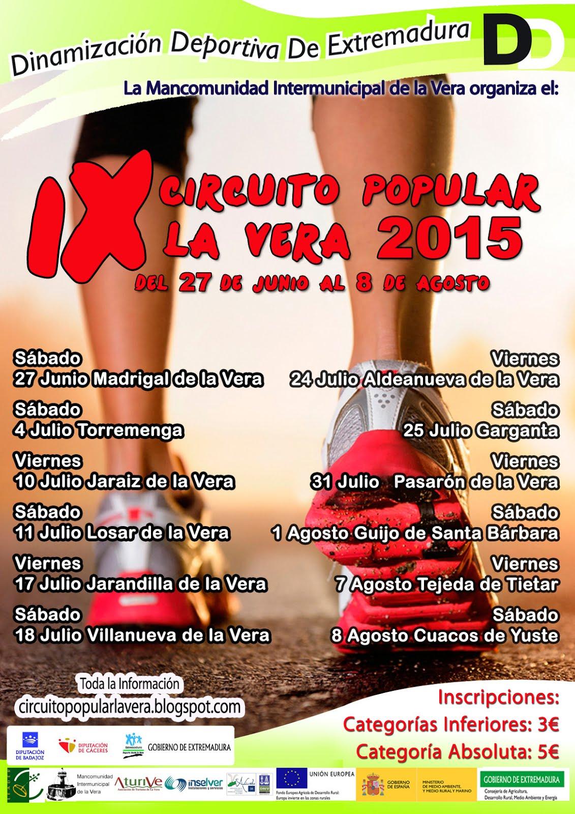 IX Circuito popular La Vera 2015