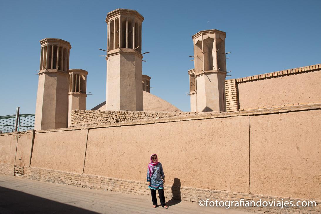Cisterna de las 6 torres de ventilación de Yazd