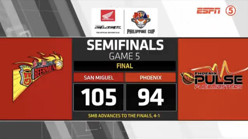 San Miguel def. Phoenix, 105-94 (REPLAY VIDEO) April 25 | Semis Game 5
