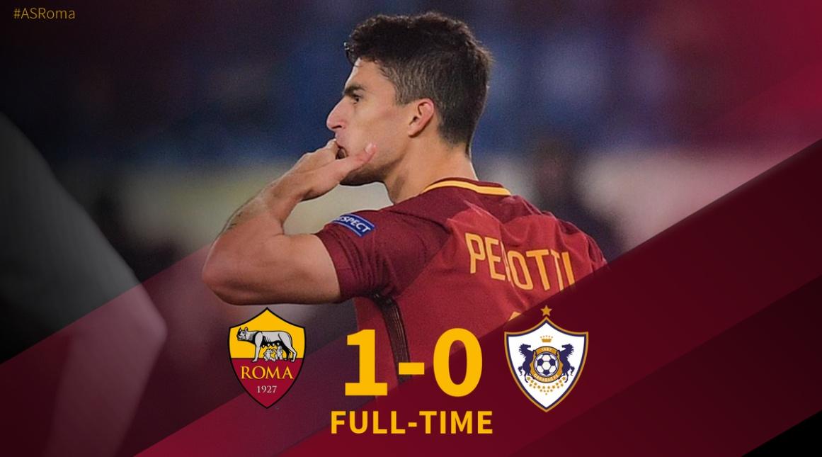 Meravigliosa ROMA! 1-0 al Qarabag e qualificata 1a nel girone di ferro davanti a Chelsea, eliminato l'Atletico Madrid | Calcio Champions League