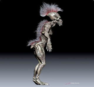 Tribal Creature- 3D character design & model by sculptor©Pierre Rouzier