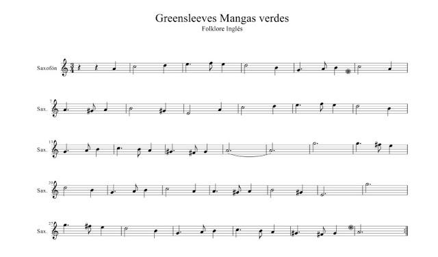 Tradicional - Greenselves (Mangas Verdes) partituras