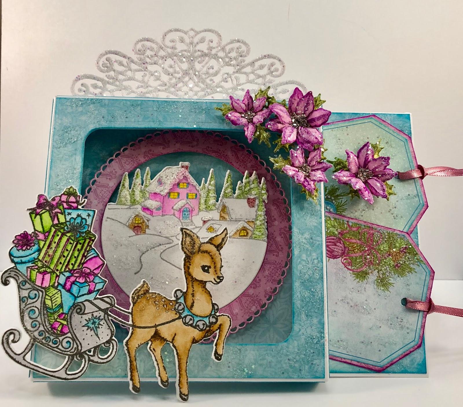 Heartfelt Creations Merry Little Christmas Cling Stamp Set HCPC-3836