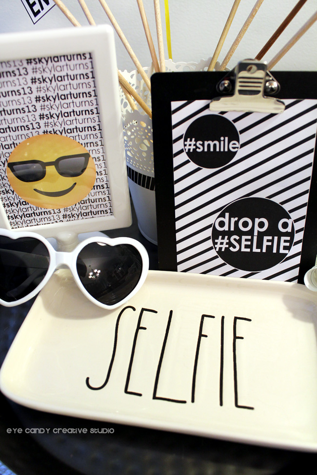 heart shaped sunglasses, shades emoji, selfie, emoji photo booth props